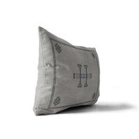 MORROCCAN KILIM GREY Indoor|Outdoor Lumbar Pillow By Becky Bailey