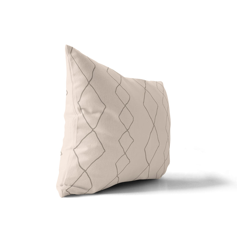 CASBAH DIAMONDS NATURAL Indoor|Outdoor Lumbar Pillow By Becky Bailey