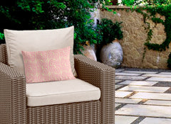 ATHENS PINK Indoor|Outdoor Lumbar Pillow By Michelle Parascandolo