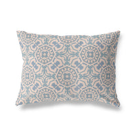 CANTERBURY BLUE Indoor|Outdoor Lumbar Pillow By Michelle Parascandolo