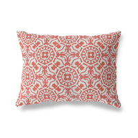 CANTERBURY RED Indoor|Outdoor Lumbar Pillow By Michelle Parascandolo