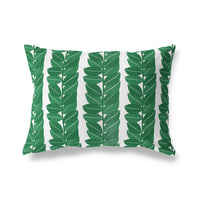HAZELWOOD GREEN Indoor|Outdoor Lumbar Pillow By Michelle Parascandolo