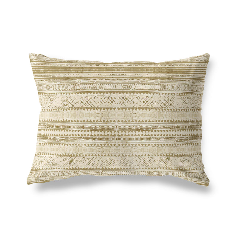 KAVALA TAN Indoor|Outdoor Lumbar Pillow By Michelle Parascandolo