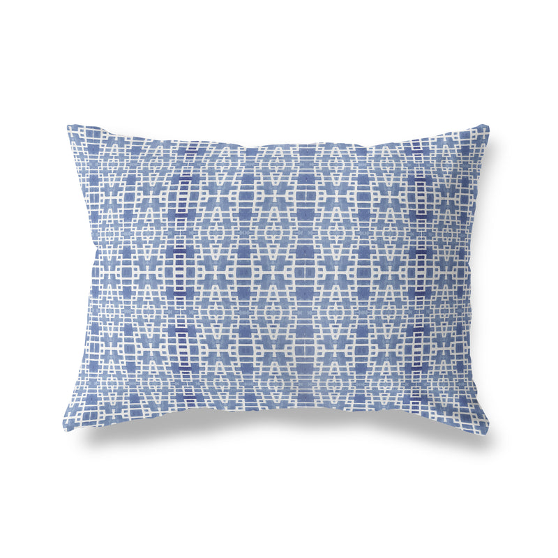 RIMINI BLUE Indoor|Outdoor Lumbar Pillow By Michelle Parascandolo