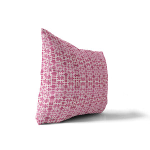RIMINI PINK Indoor|Outdoor Lumbar Pillow By Michelle Parascandolo