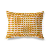 VARIA ORANGE Indoor|Outdoor Lumbar Pillow By Michelle Parascandolo