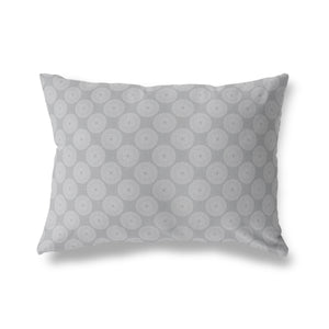 MOTION GREY Indoor|Outdoor Lumbar Pillow By Terri Ellis