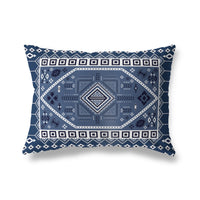 PAC NAVY Indoor|Outdoor Lumbar Pillow By Terri Ellis