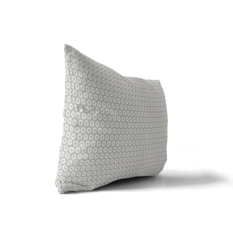 STAR POWER GREY Indoor|Outdoor Lumbar Pillow By Terri Ellis