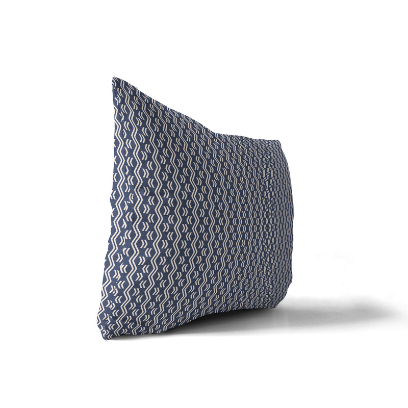 RINALDO NAVY Indoor|Outdoor Lumbar Pillow By Terri Ellis