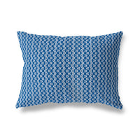 RINALDO BLUE Indoor|Outdoor Lumbar Pillow By Terri Ellis
