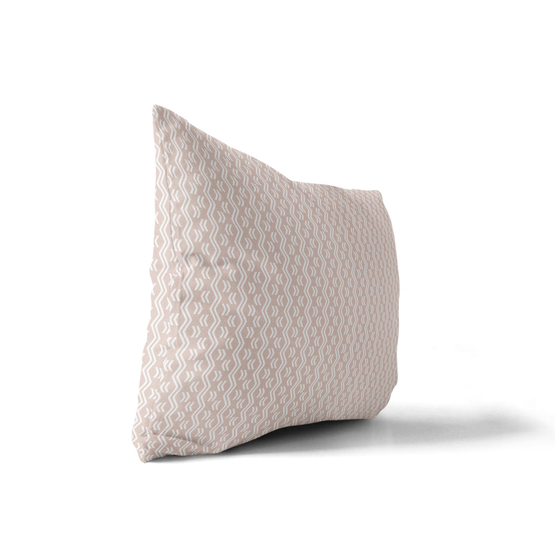 RINALDO BLUSH Indoor|Outdoor Lumbar Pillow By Terri Ellis