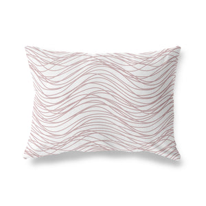 FLOW ROSE Indoor|Outdoor Lumbar Pillow By Tiffany Wong