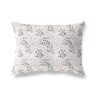 SMUDGE BLUSH Indoor|Outdoor Lumbar Pillow By Tiffany Wong