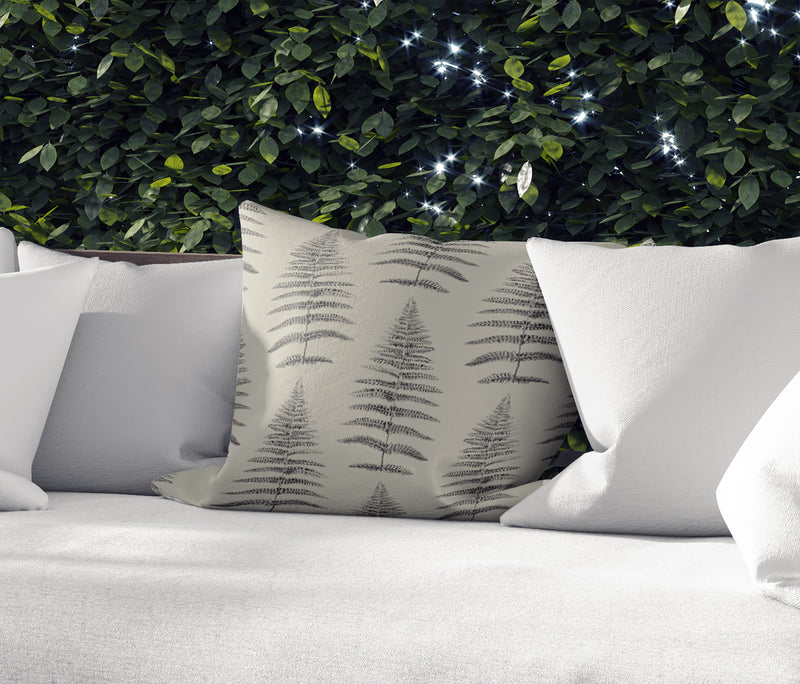 FERN LEAF TAN Indoor|Outdoor Pillow By Becky Bailey