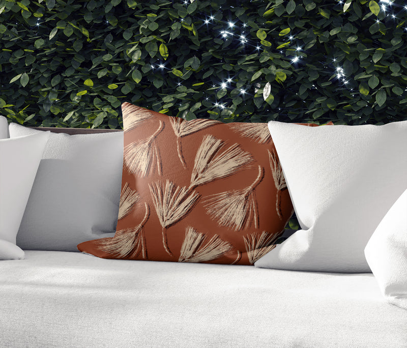 RED PINE IN RUST Indoor|Outdoor Pillow By Becky Bailey