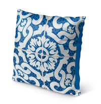 LACE BLUE 1 Indoor|Outdoor Pillow By Catia Keck