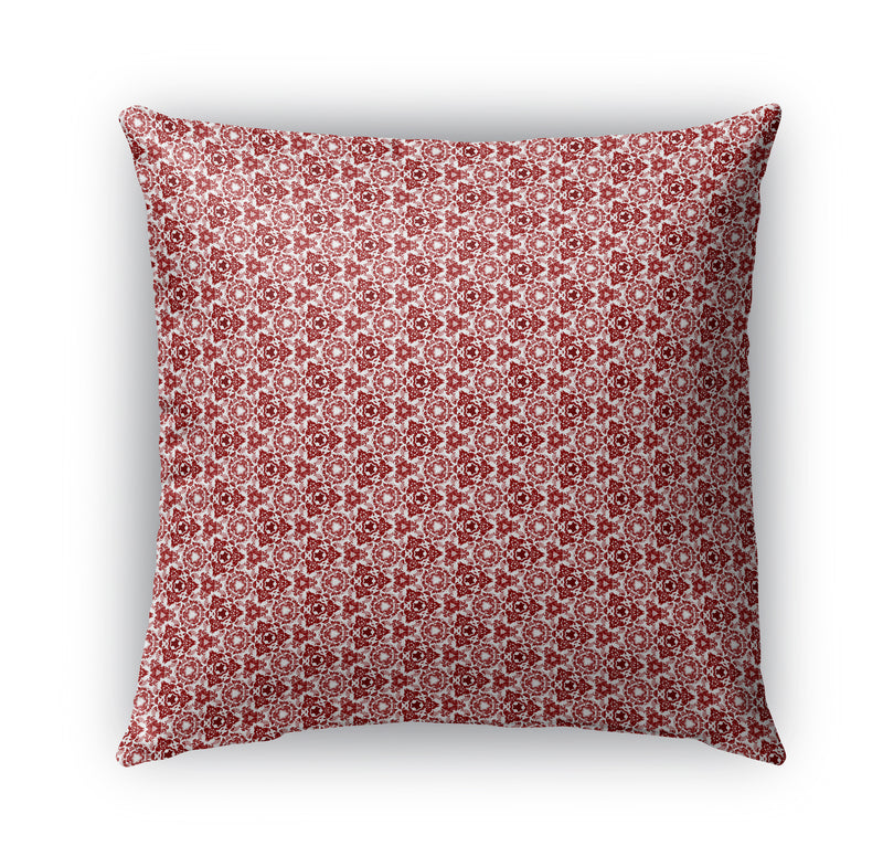 RED BLOOM Indoor|Outdoor Pillow By Catia Keck