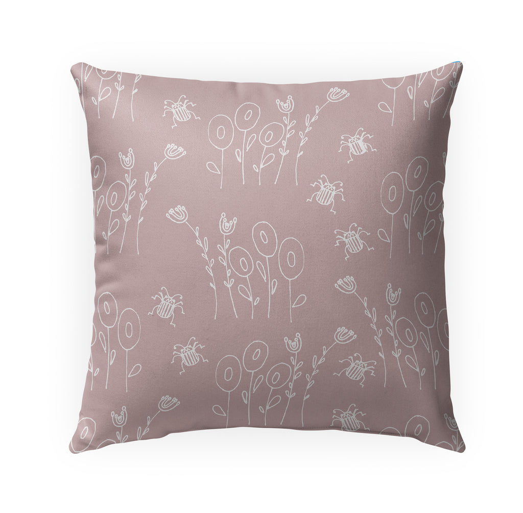 BUG PINK Indoor|Outdoor Pillow By Anne Cote