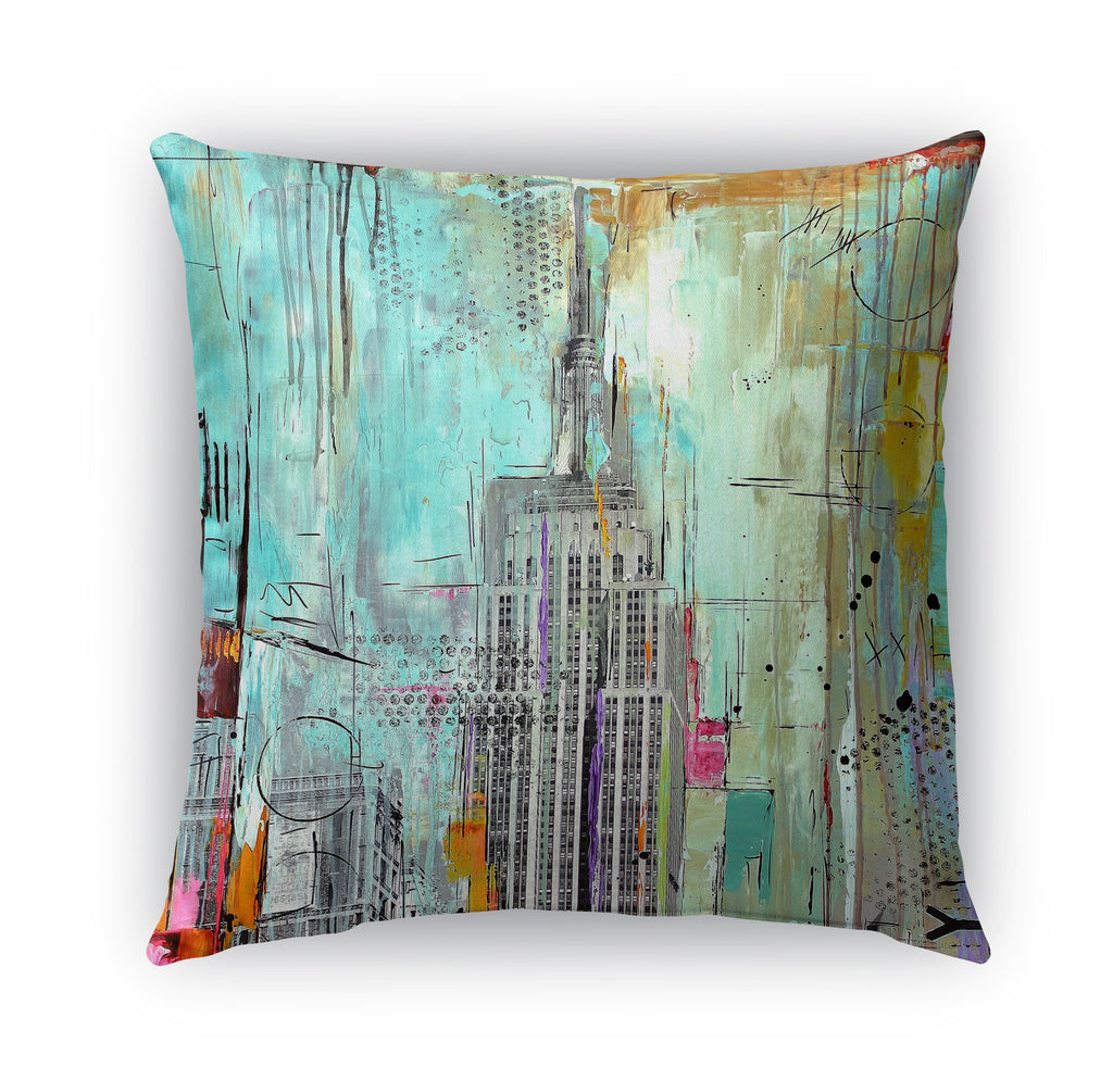 NYC Indoor|Outdoor Pillow By Jolina Anthony