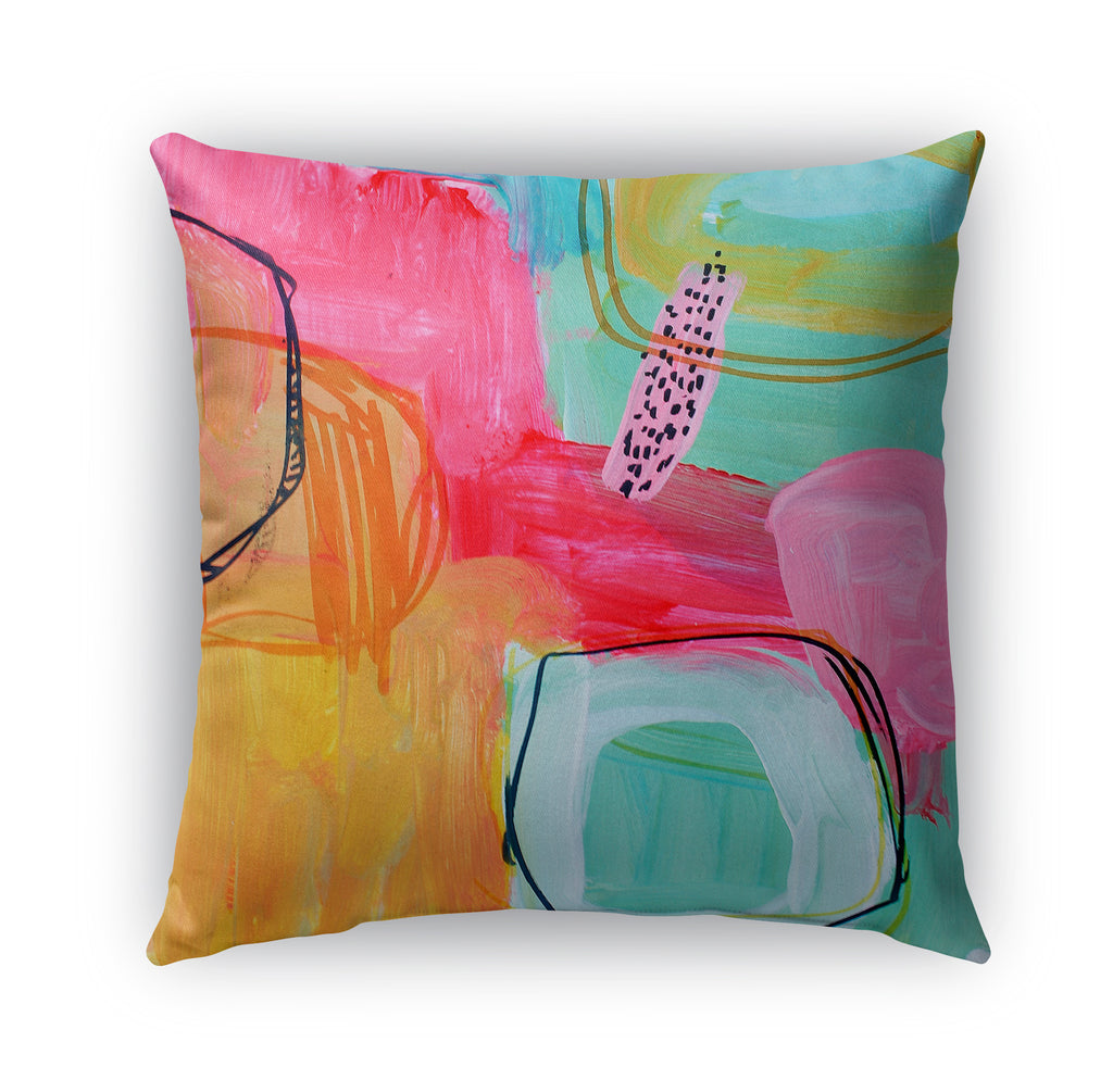PINK FRILLS Indoor|Outdoor Pillow By Jolina Anthony