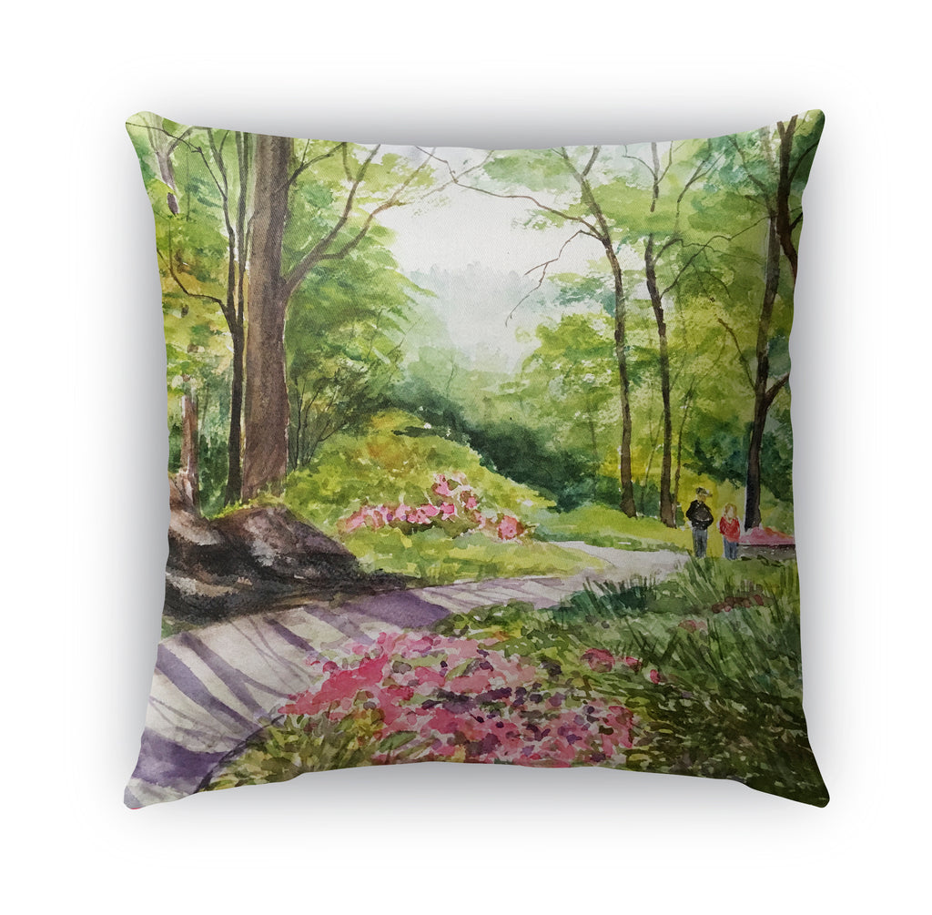 PEACEFUL GARDEN Indoor|Outdoor Pillow By Jayne Conte