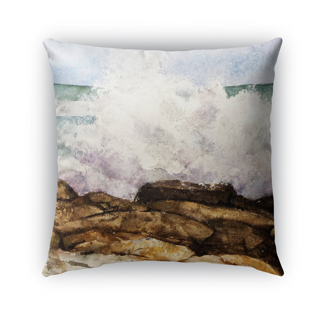 WAVE BREAK Indoor|Outdoor Pillow By Jayne Conte