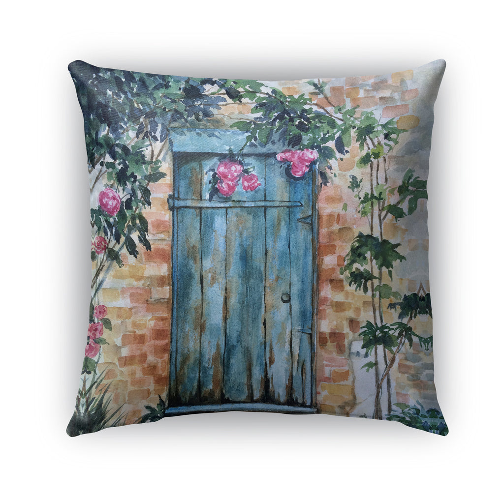WOOD DOOR Indoor|Outdoor Pillow By Jayne Conte