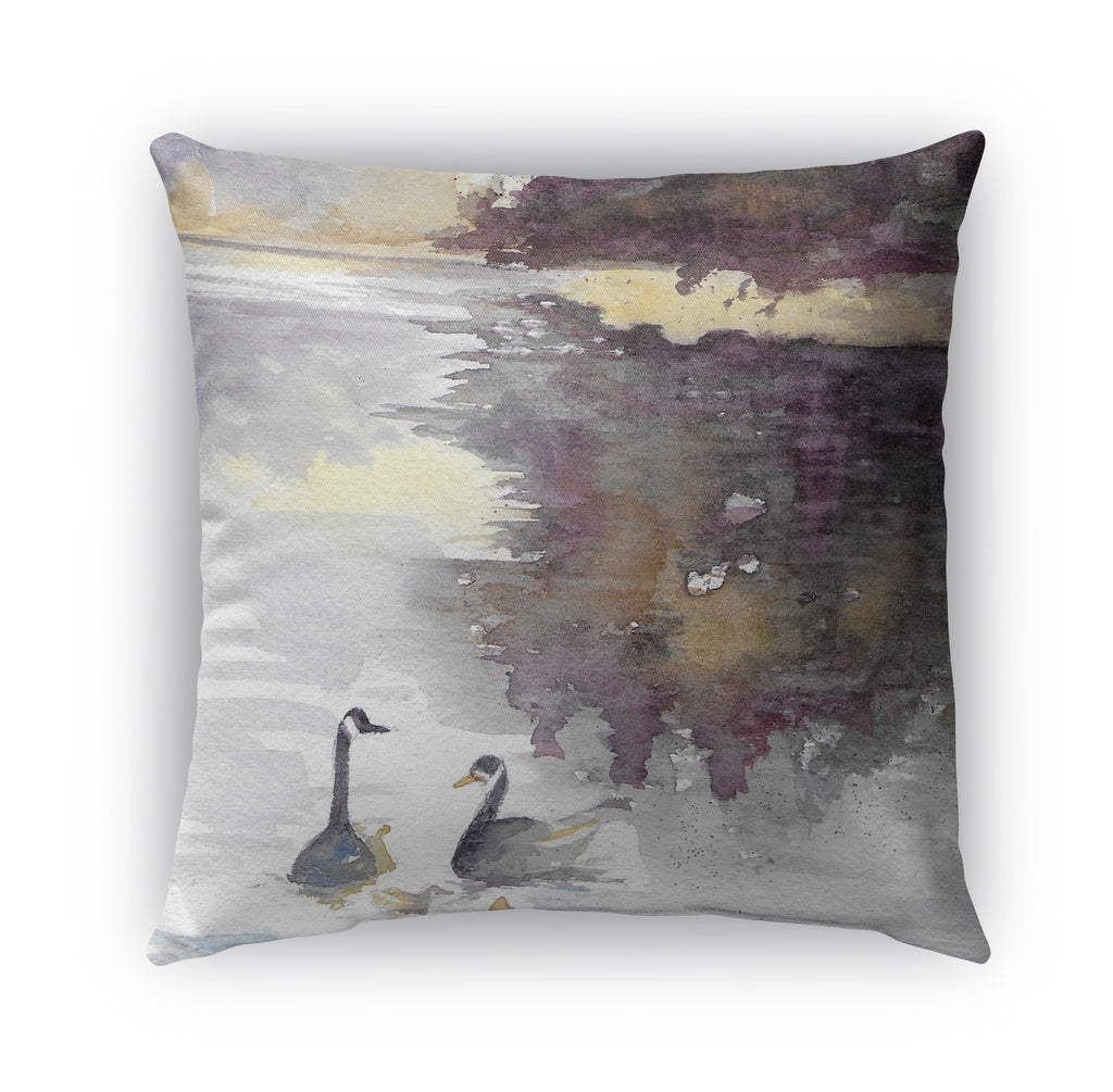 SWANS Indoor|Outdoor Pillow By Jayne Conte