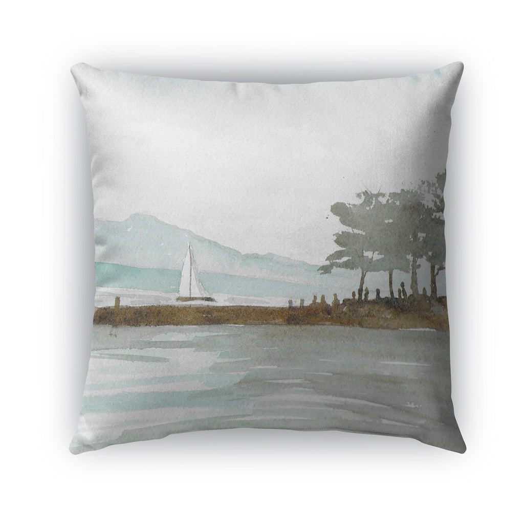 SAIL BOAT Indoor|Outdoor Pillow By Jayne Conte