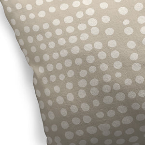 DOTS ABSTRACT BEIGE Indoor|Outdoor Pillow By Kavka Designs
