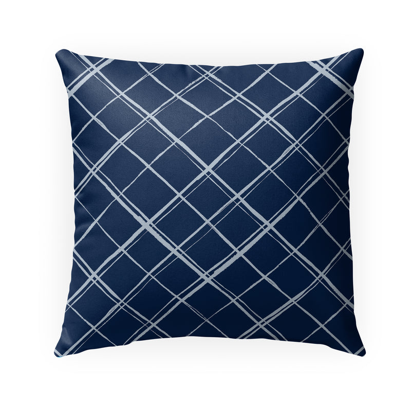 PANES NAVY Indoor|Outdoor Pillow By Kavka Designs