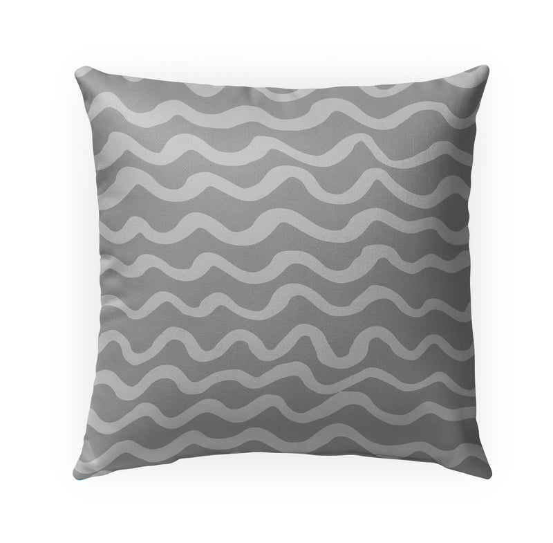 WAVES ABSTRACT GREY Indoor|Outdoor Pillow By Kavka Designs