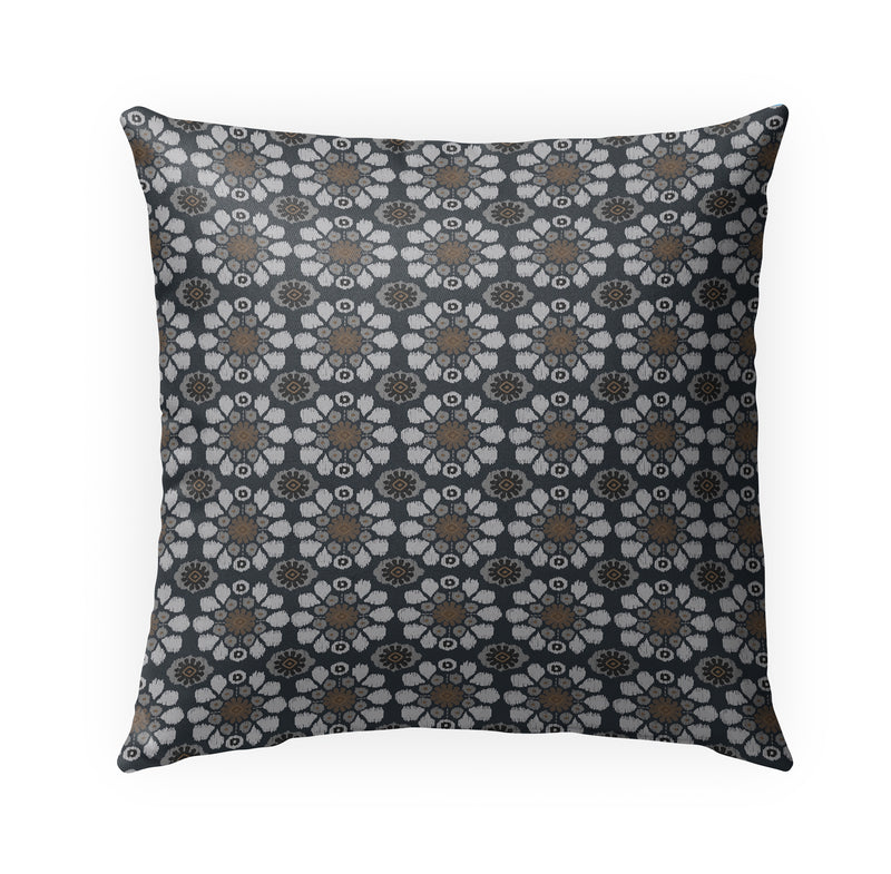 ADELE CHARCOAL Indoor|Outdoor Pillow By Kavka Designs