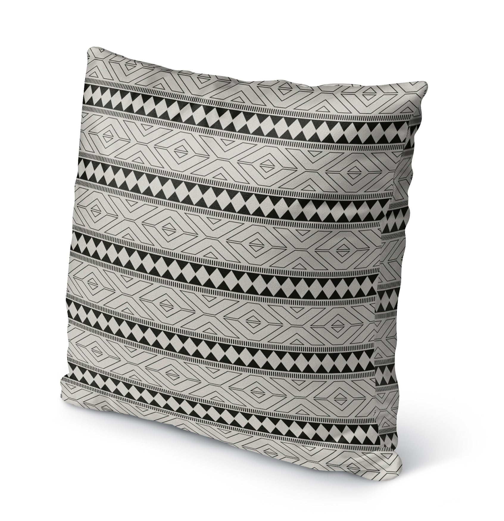 MARRAKESH BLACK Indoor|Outdoor Pillow By Marina Gutierrez