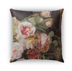 ROSE MALLOW Indoor|Outdoor Pillow By Marina Gutierrez