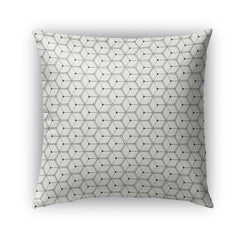 HEXAGONS Indoor|Outdoor Pillow By Michelle Parascandolo