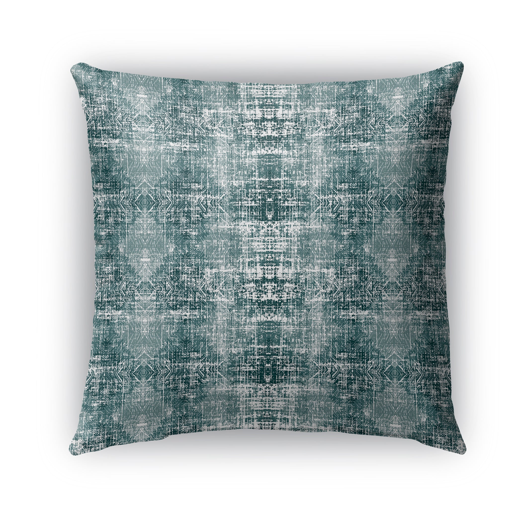 TURQUOISE DISTRESSED Indoor|Outdoor Pillow By Michelle Parascandolo