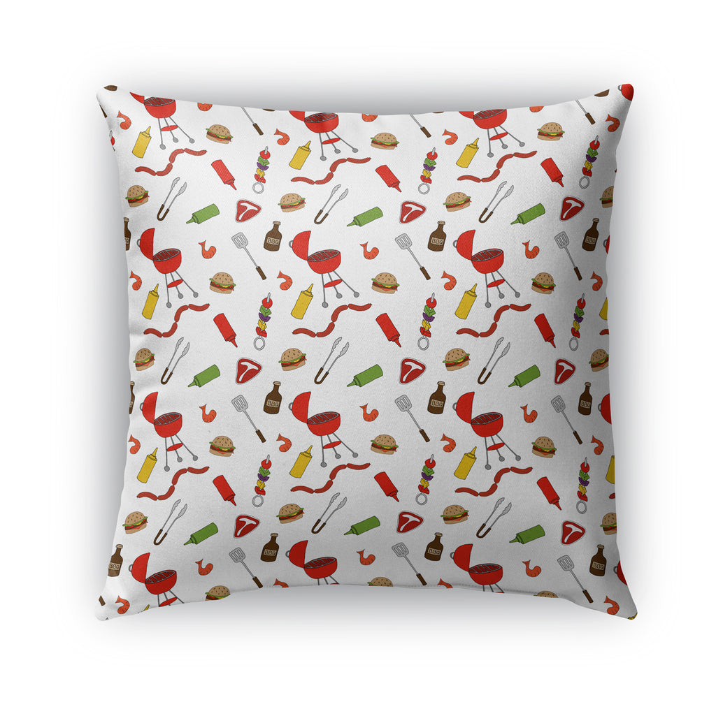 PATTERN BBQ Indoor|Outdoor Pillow By Northern Whimsy