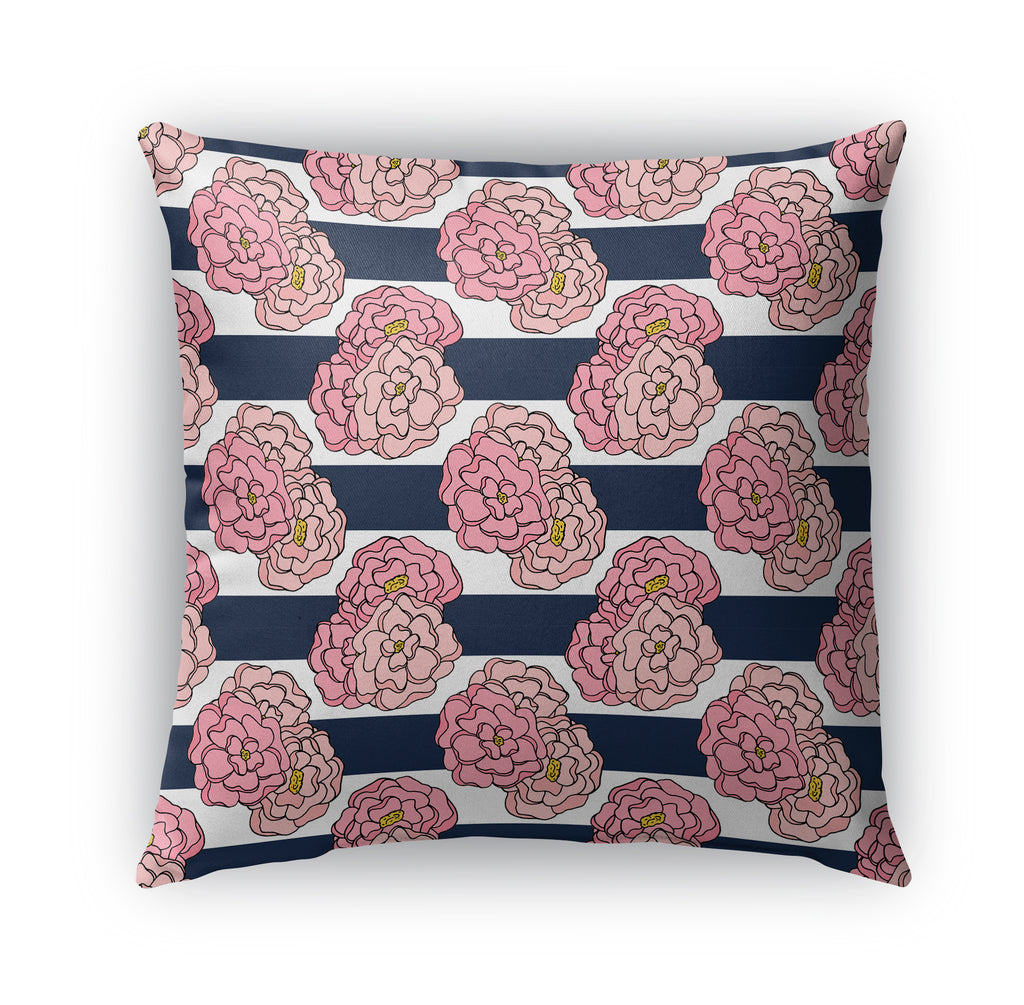 NAUTICAL PINK FLORAL PATTERN Indoor|Outdoor Pillow By Northern Whimsy