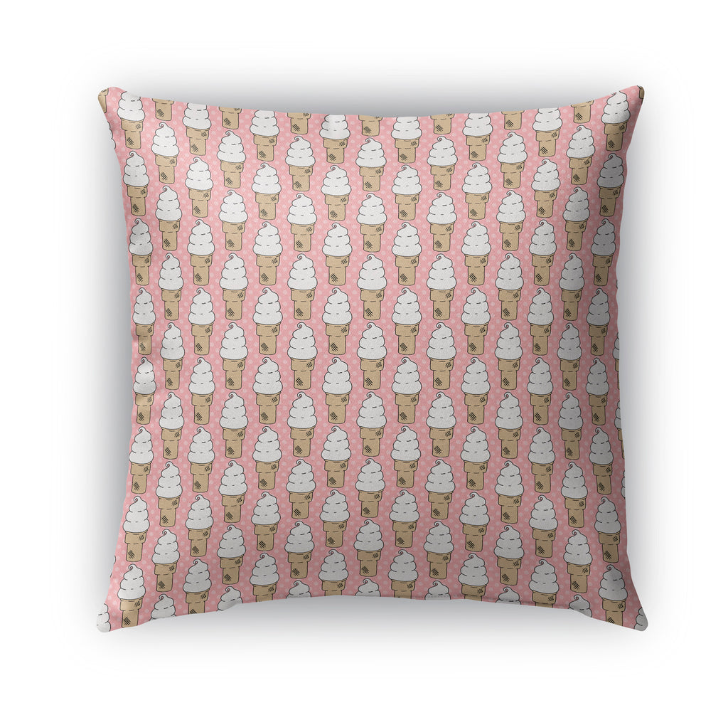 SOFT SERVE ICE CREAM PATTERN Indoor|Outdoor Pillow By Northern Whimsy