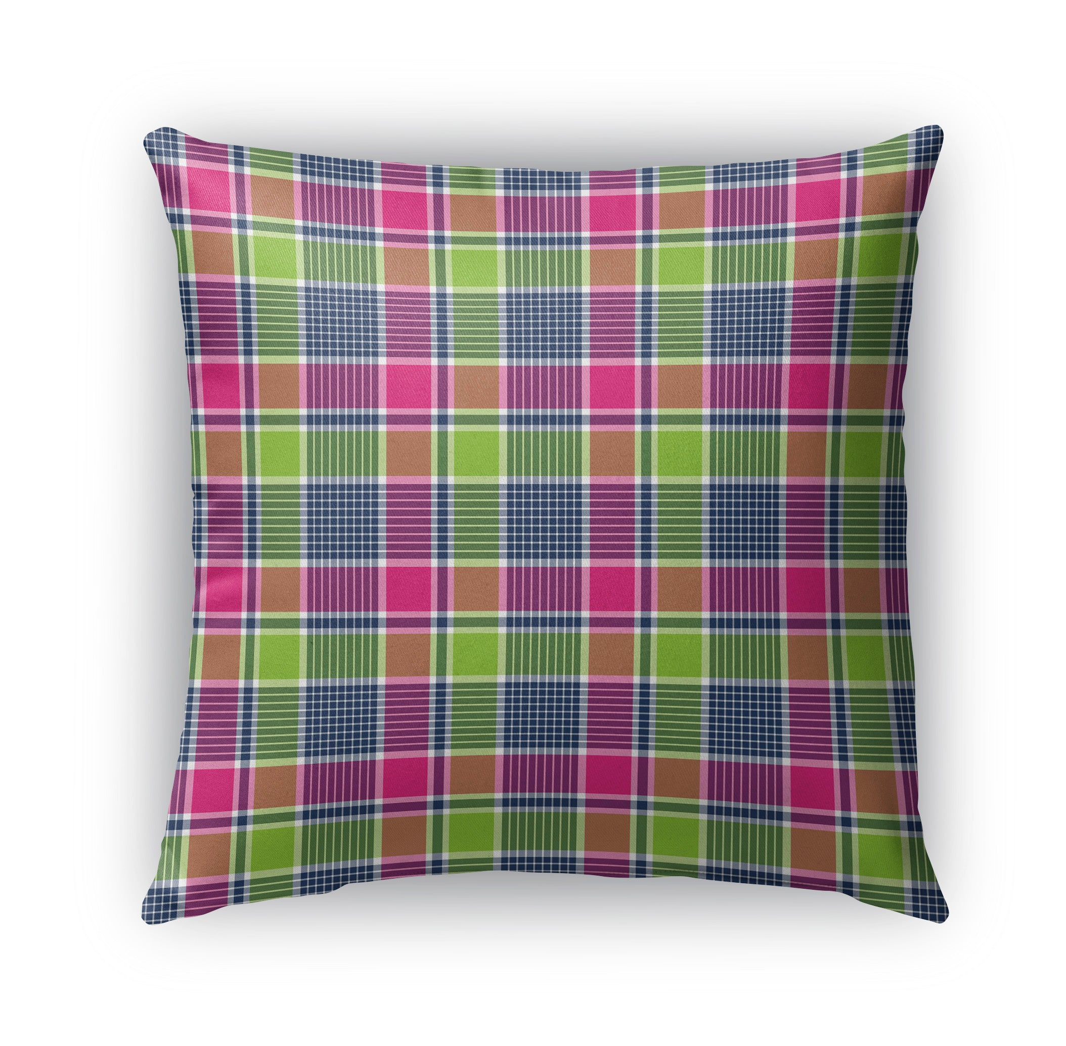 SPRING COLORS PLAID Indoor|Outdoor Pillow By Northern Whimsy