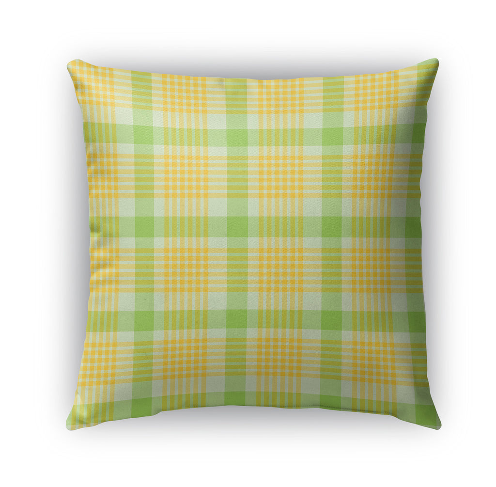 SUNSHINE PLAID Indoor|Outdoor Pillow By Northern Whimsy