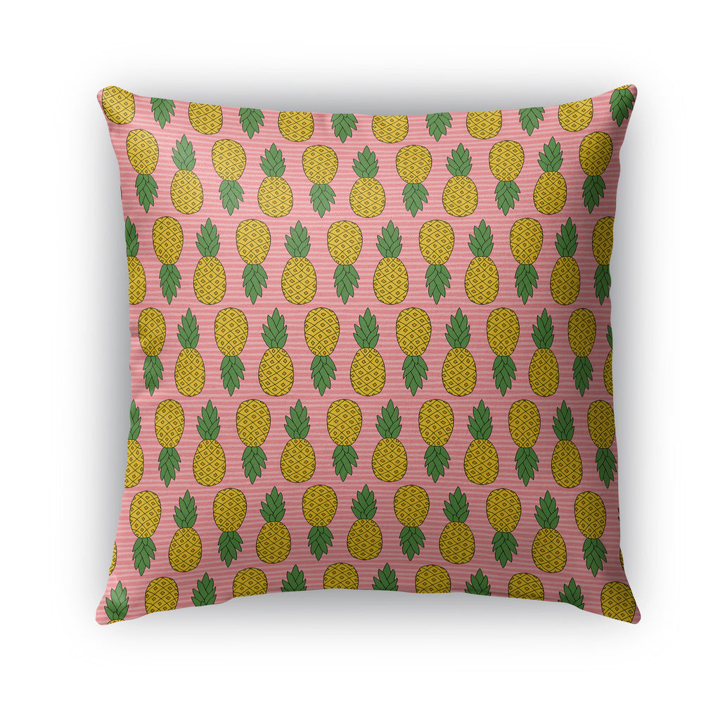 PINK PINEAPPLE PATTERN Indoor|Outdoor Pillow By Northern Whimsy