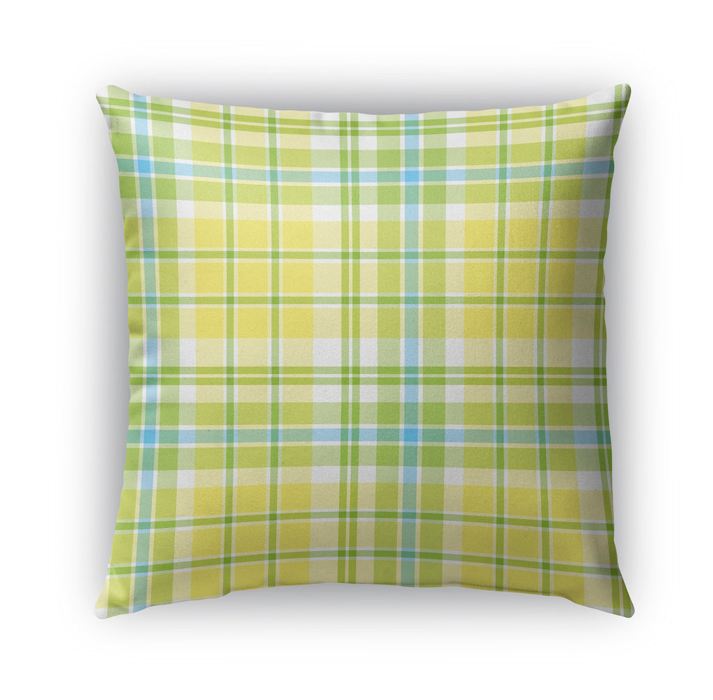 SAILBOAT PLAID Indoor|Outdoor Pillow By Northern Whimsy