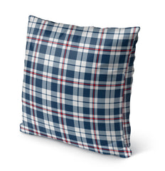 PATRIOTIC PLAID Indoor|Outdoor Pillow By Northern Whimsy