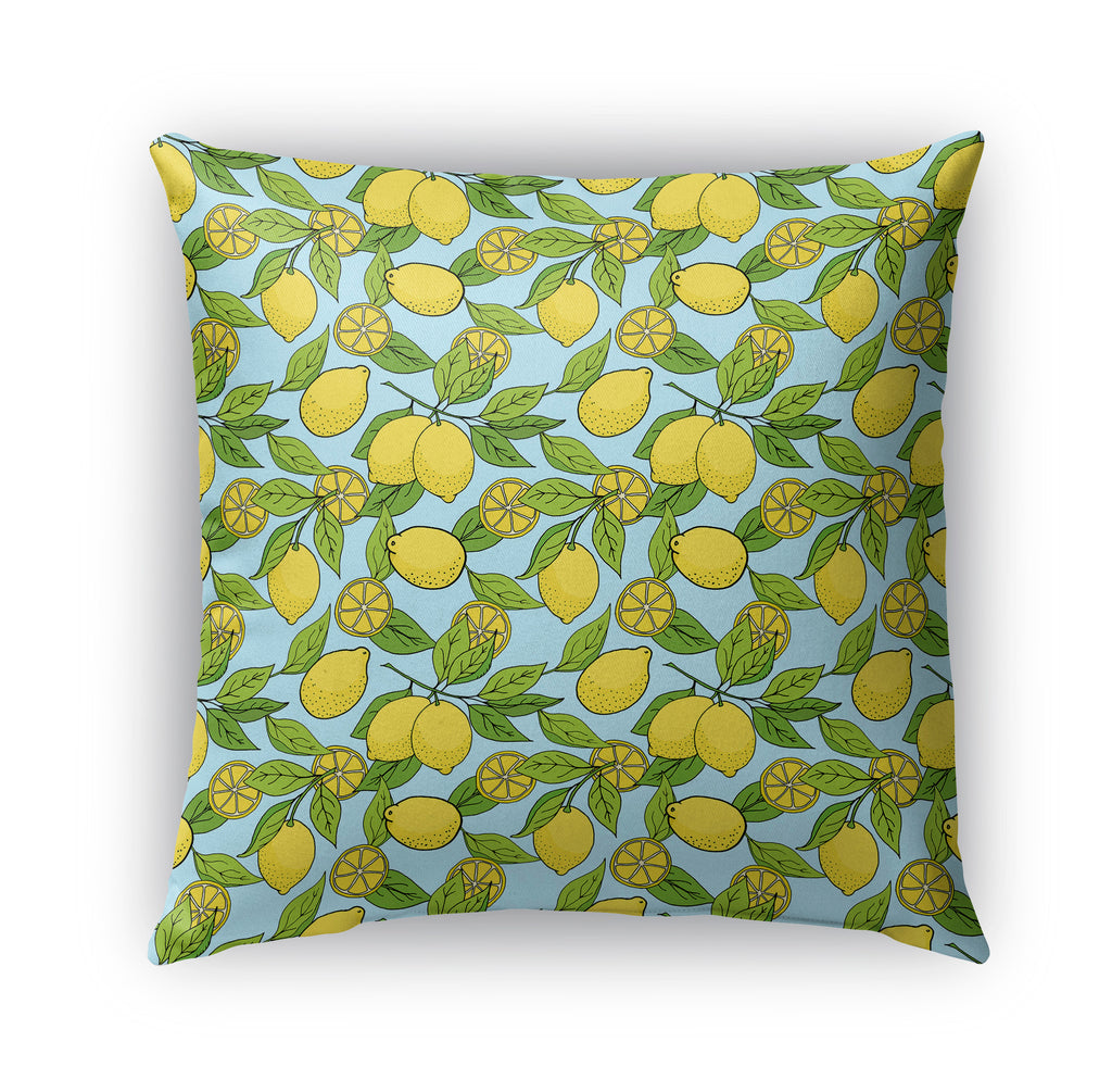 TROPICAL LEMONS PATTERN Indoor|Outdoor Pillow By Northern Whimsy