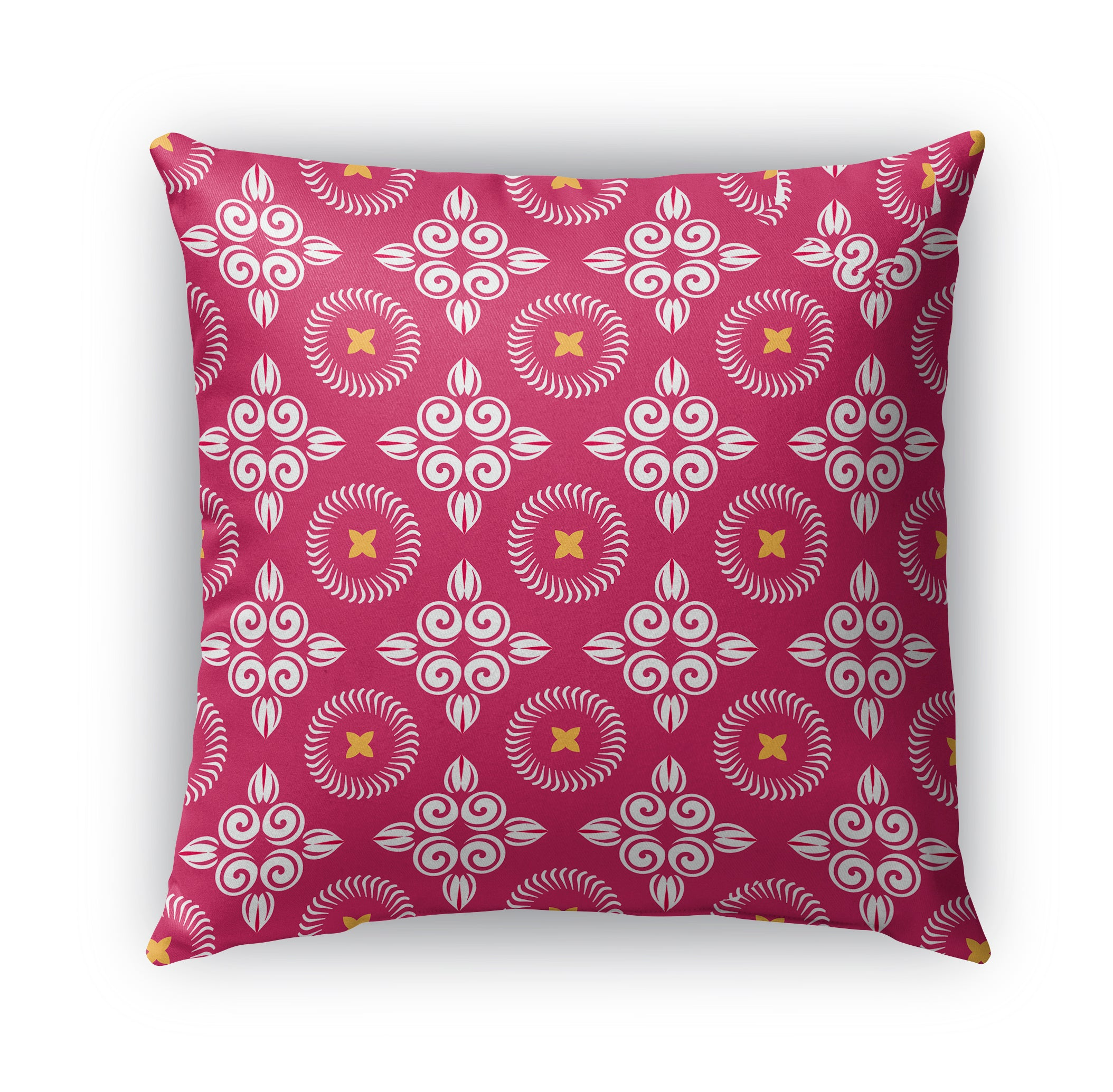 SCROLLED FLORAL Indoor|Outdoor Pillow By Terri Ellis