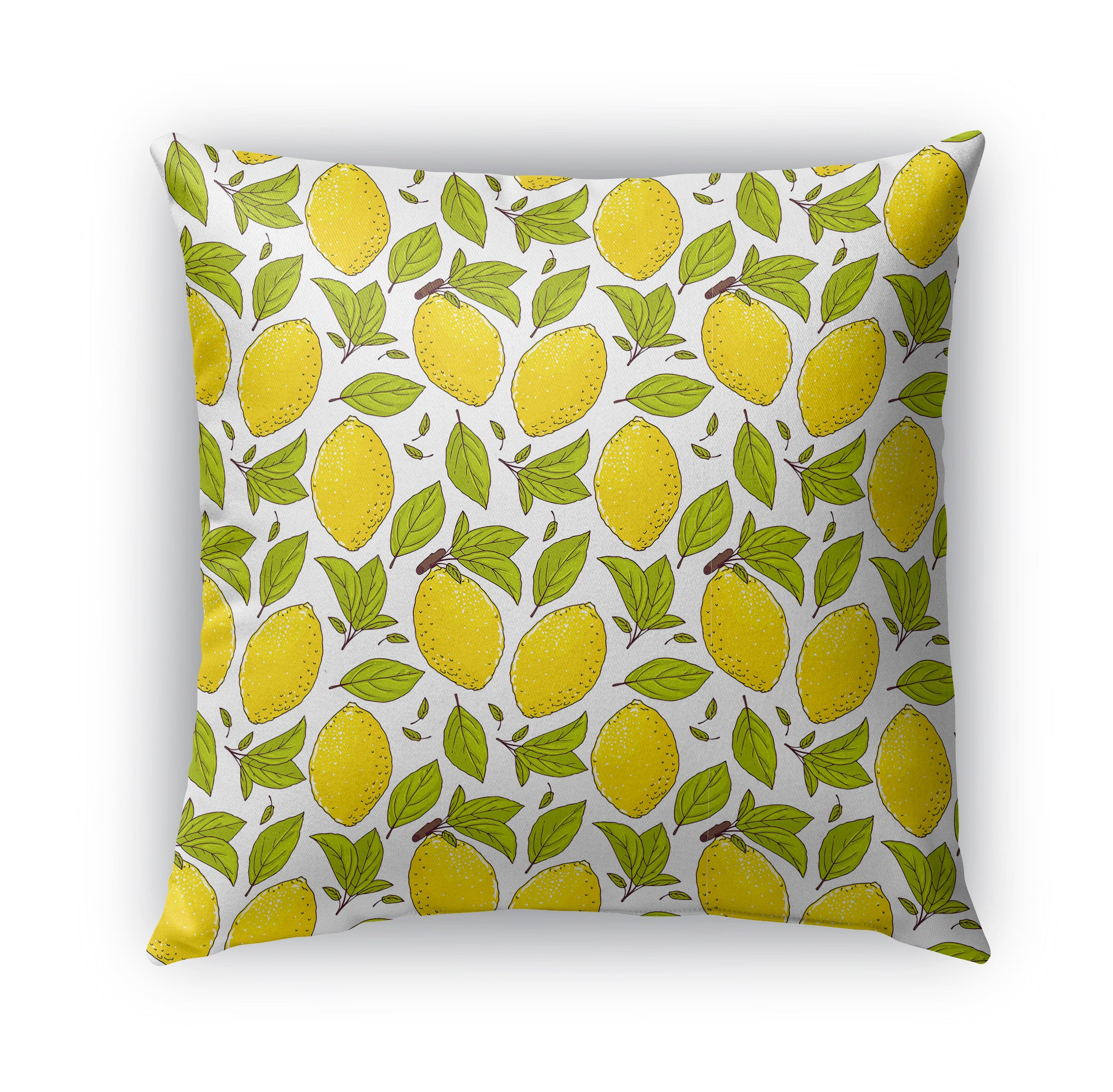 LEMONS Indoor|Outdoor Pillow By Terri Ellis