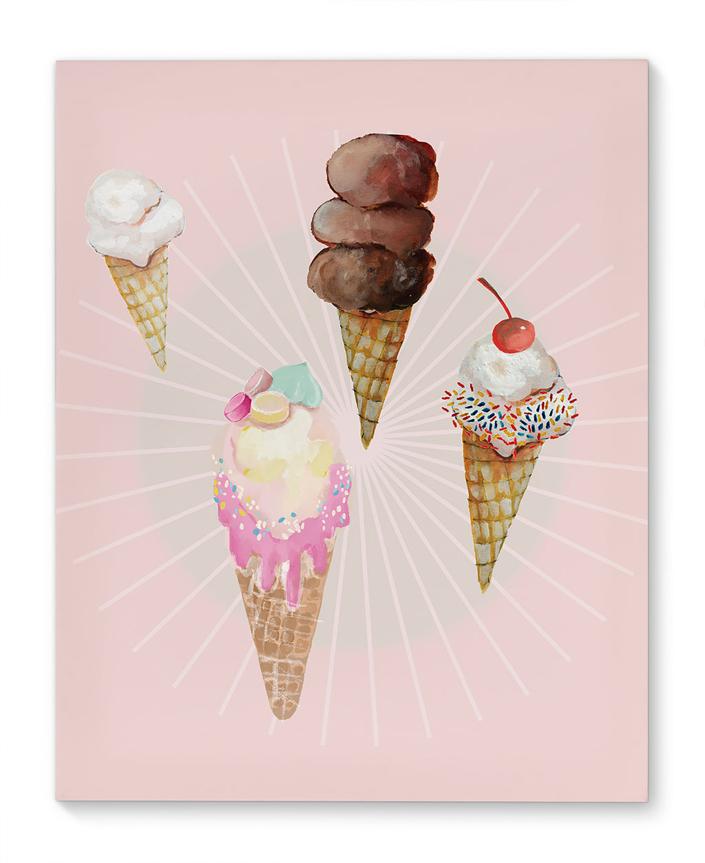 ICE CREAM Canvas Art By Anne Cote
